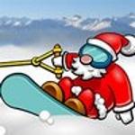 Санта на Сноуборді